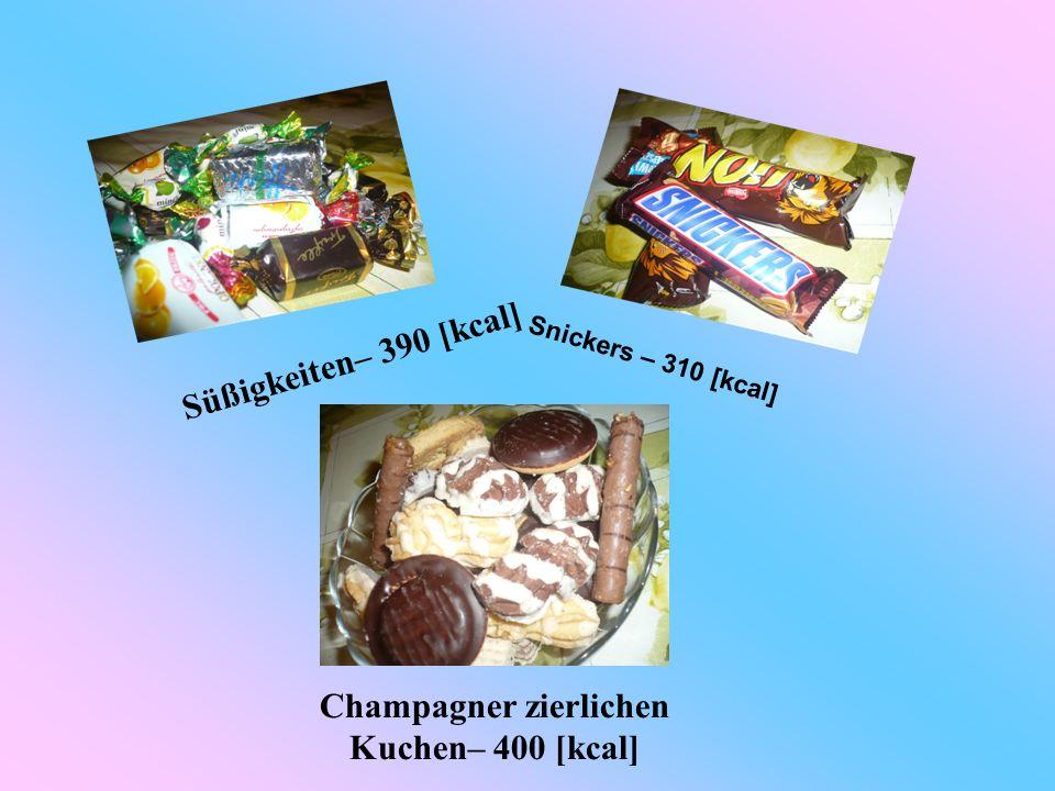 Champagner zierlichen Kuchen– 400 [kcal]